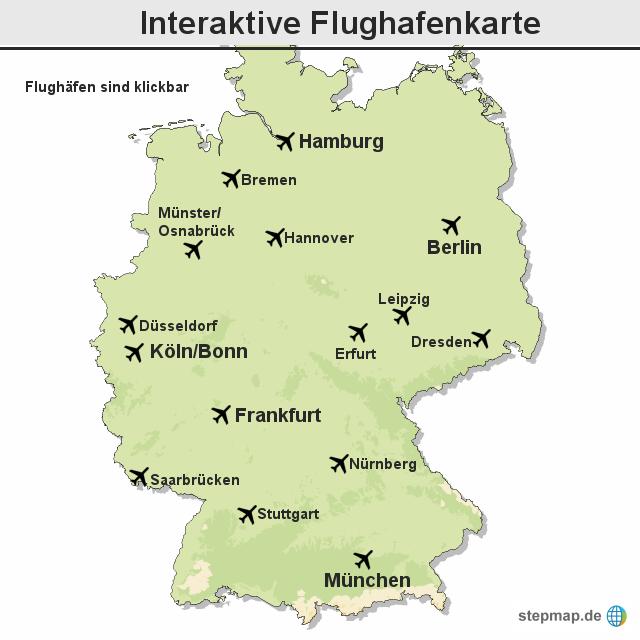 flughafen karte deutschland Streik: Interaktive Flughafenkarte von Kurierschnecke   Landkarte  flughafen karte deutschland