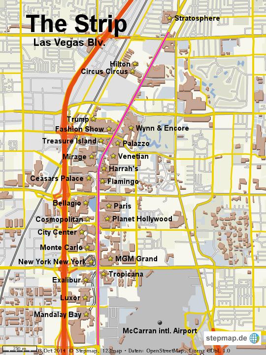 Las Vegas Strip Karte