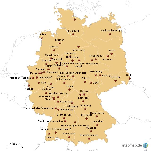 studium soziale arbeit st dte von miriamklein landkarte f r deutschland. Black Bedroom Furniture Sets. Home Design Ideas