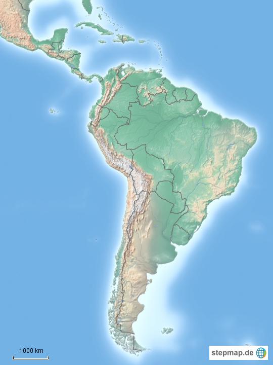 Stumme Karte Lateinamerika.Stepmap Stumme Karte Lateinamerika Landkarte Fur Sudamerika