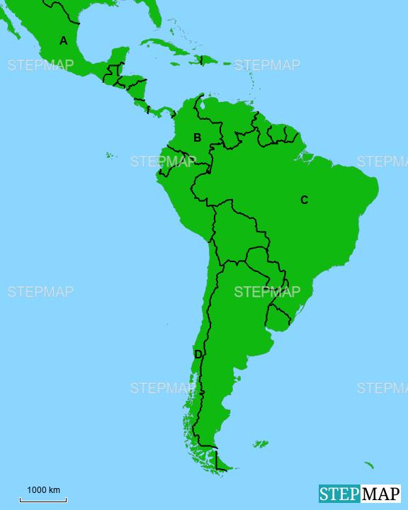 Stumme Karte Lateinamerika.Stepmap Stumme Karte Lateinamerika Landkarte Fur Deutschland