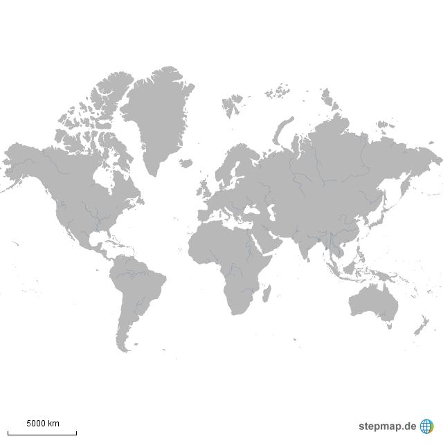 stumme karte welt StepMap   stumme Weltkarte   Landkarte für Welt stumme karte welt