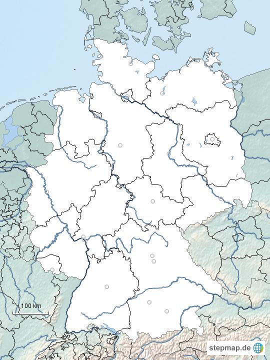 stumme deutschlandkarte mit bundesl ndern und fl ssen von heikehammon landkarte f r deutschland. Black Bedroom Furniture Sets. Home Design Ideas