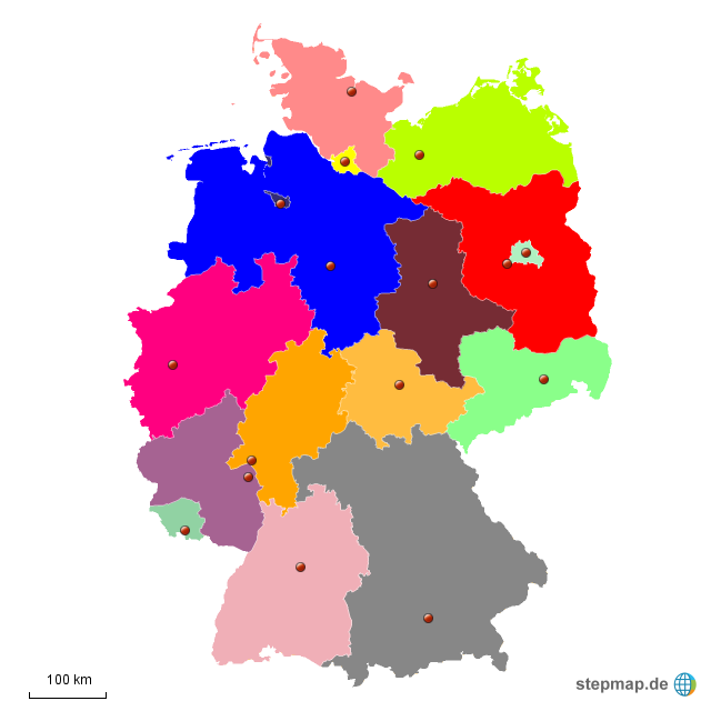 bundesländer stumme karte stumme Karte Bundesländer Deutschlands von chrifuh   Landkarte für