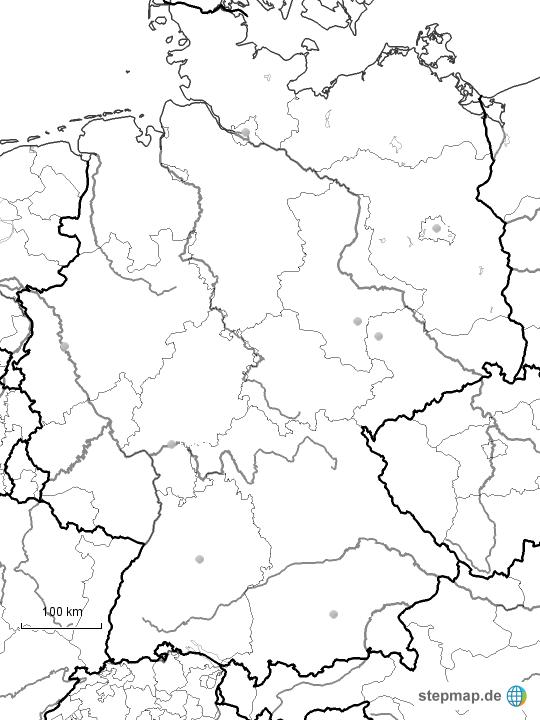 Stumme Karte Deutschland Städte
