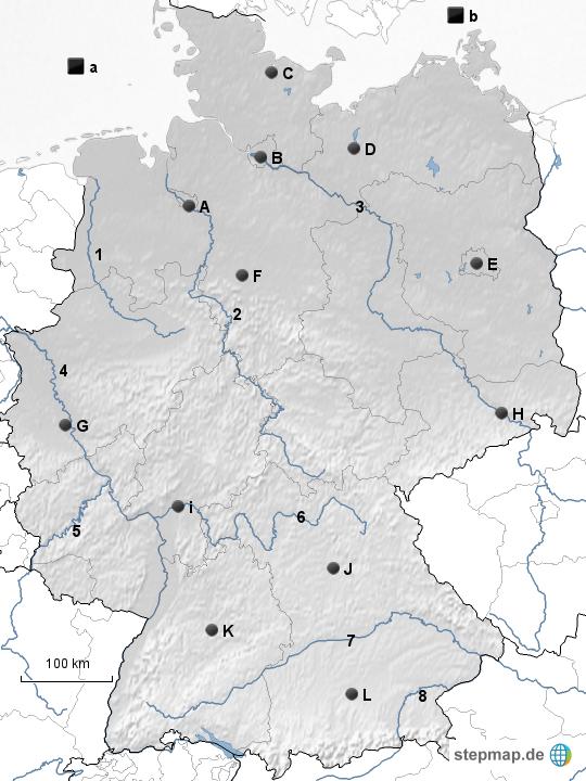 Stumme Karte Deutschland Sw Von Herralbert Landkarte Für Deutschland