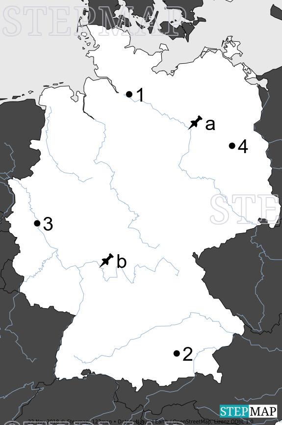 Landkarte: Stumme Karte Deutschland