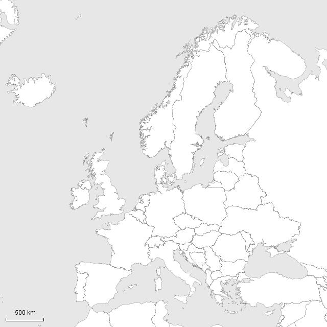 stepmap stumme karte europa landkarte f r europa. Black Bedroom Furniture Sets. Home Design Ideas