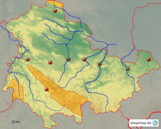 Karte Thüringen.Stumme Karte Thüringen Von Rsd Mhepp Landkarte Für Thüringen