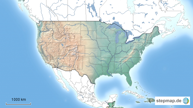 stumme karte usa Stumme Karte USA von herralbert   Landkarte für Nordamerika