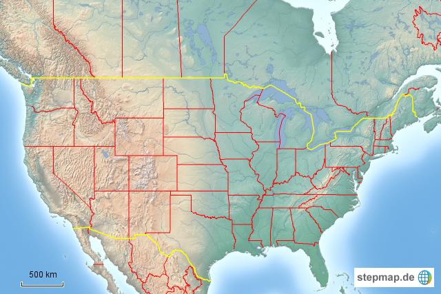 Stumme Karte Usa Von Kasim Landkarte Fur Die Usa