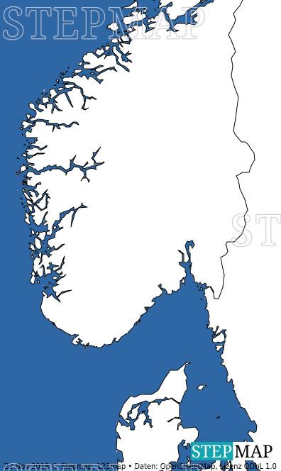Landkarte: Süd-Norwegen