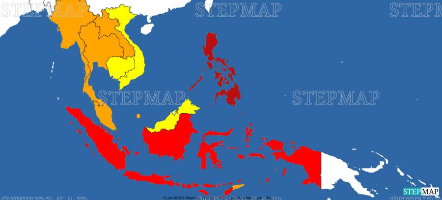 Landkarte: Süd-Ost Asien