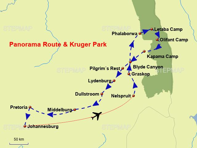 Sudafrika Panoramaroute Von Enzmann Landkarte Fur Sudafrika