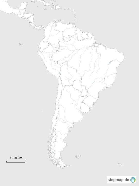 Sudamerika Von Fords Deep Waters Landkarte Fur Sudamerika