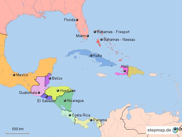 Karte von karibik mehrere länder auf welt atlasde atlas picture