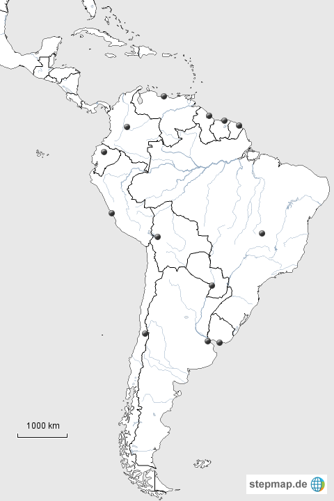 Südamerika Karte Ohne Beschriftung.Südamerika Karte Schwarz Weiß My Blog