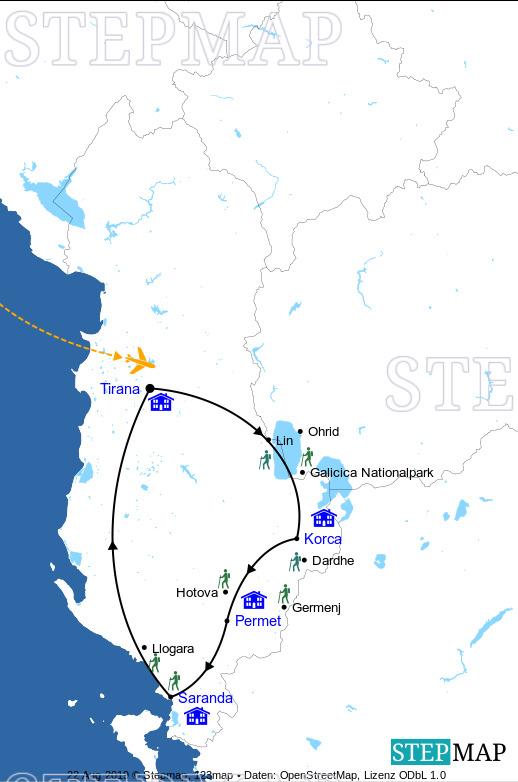 Landkarte: Süden