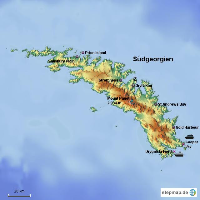 südgeorgien weltkarte Südgeorgien von reisetante60   Landkarte für Südamerika südgeorgien weltkarte