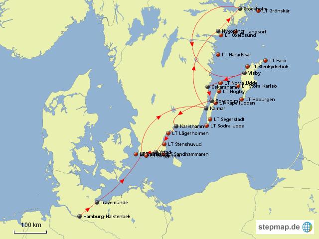 leuchttürme deutschland karte Südschweden Leuchttürme 2012 von Meridianne   Landkarte für  leuchttürme deutschland karte