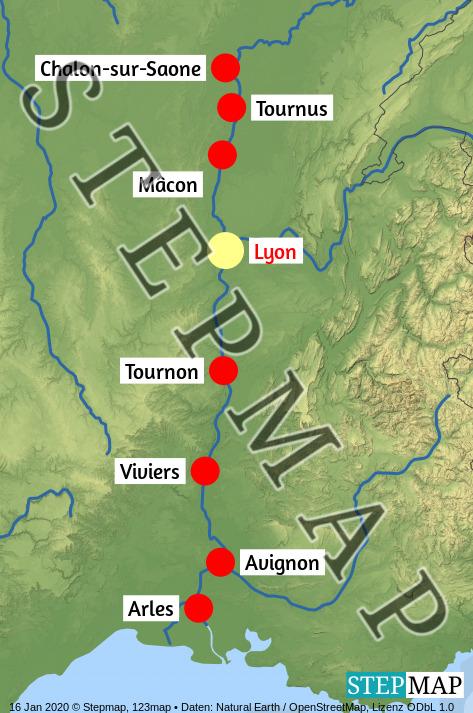 Landkarte: Swiss Gloria - Rhone 2021