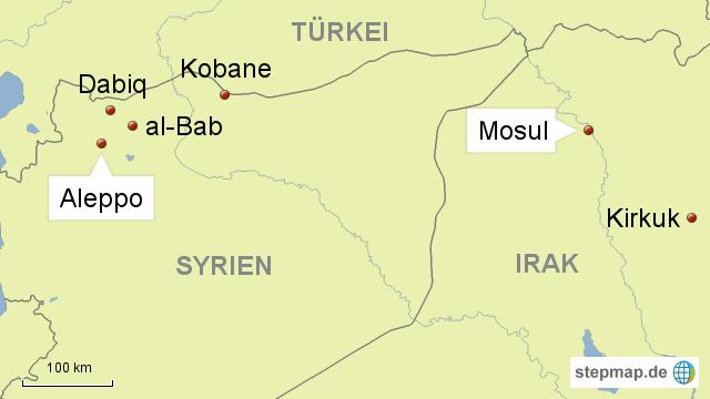 Syrien Irak Karte.Syrien Irak Aleppo Mosul Von Journal21 Landkarte Für Asien