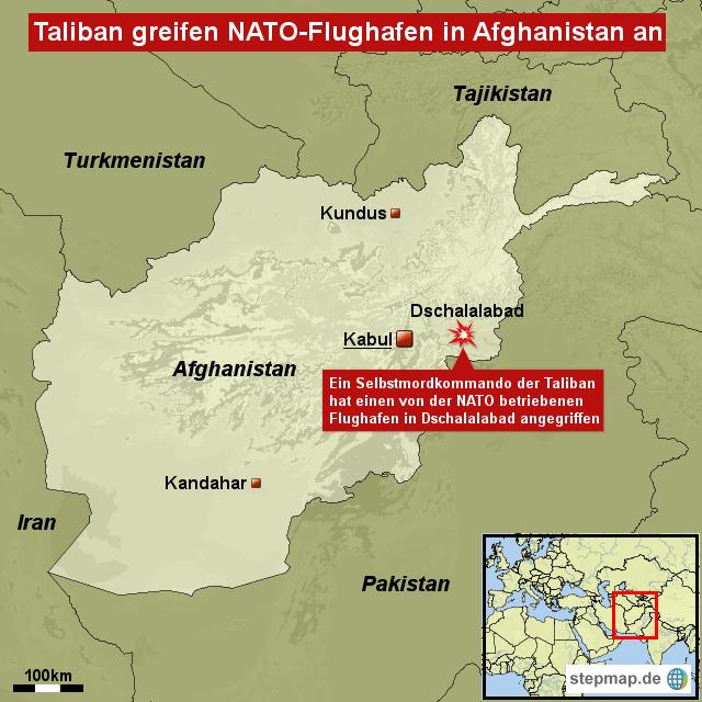 Taliban greifen nato-flughafen in afghanistan an