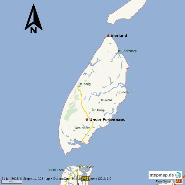 Karte Texel.Texel Von Wentor Landkarte Für Die Welt