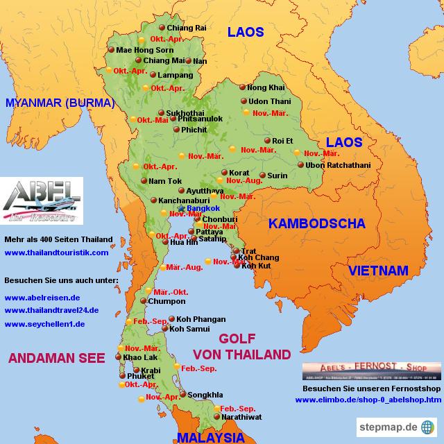 thailand reisezeit urlaubsguru
