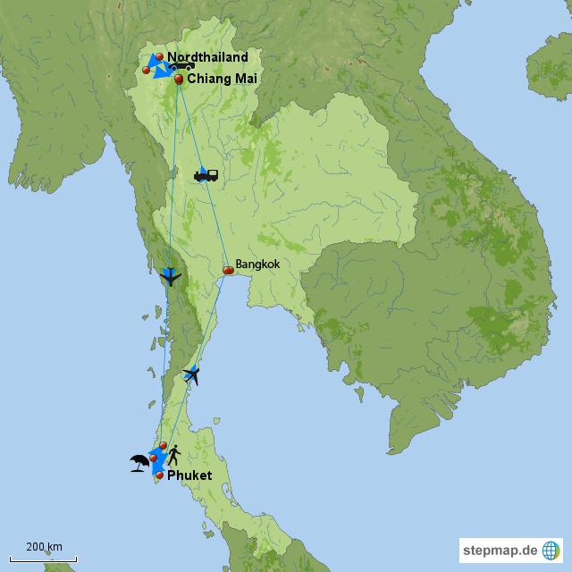 thailand urlaub 2012 von hilkejohanna landkarte f r thailand. Black Bedroom Furniture Sets. Home Design Ideas