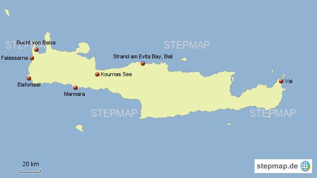 Top 10 Strände Kretas Von Lotusblume91 Landkarte Für Griechenland