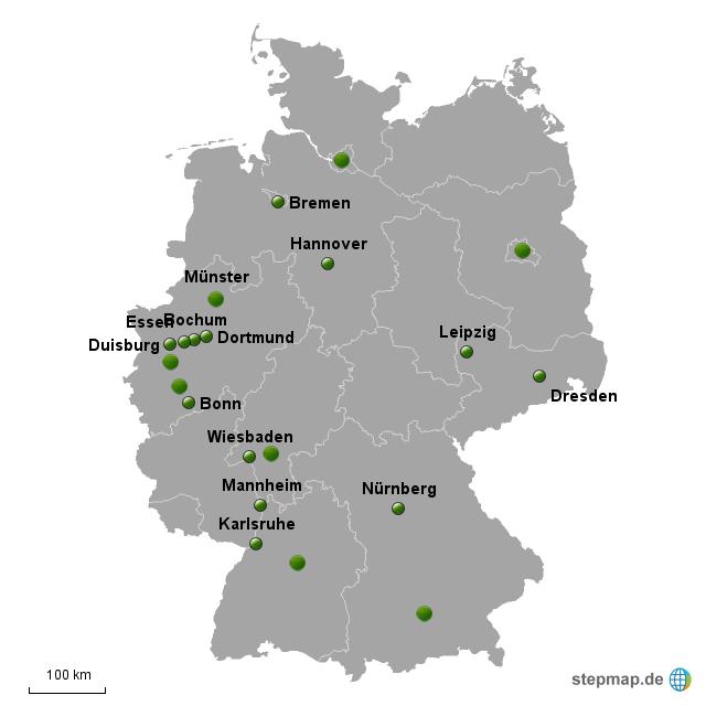 Top 7 Standorte B St Dte Deutschland Von Kartendjango