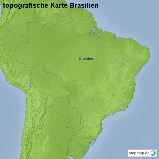 topographische karte brasilien StepMap   topografische Karte Brasilien   Landkarte für Brasilien