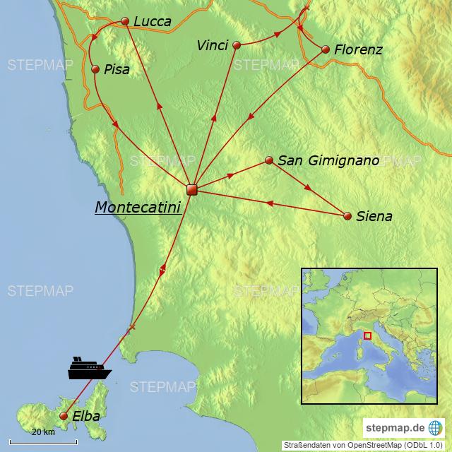 Insel Elba Karte.Toskana Insel Elba Von Debenjak Landkarte Für Deutschland