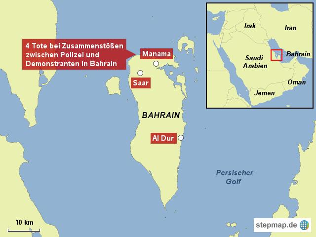 wo liegt bahrain