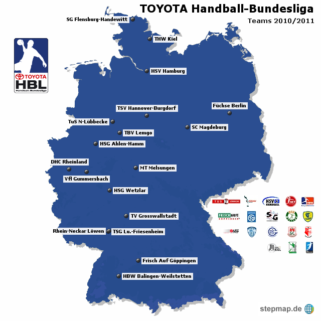 Toyota handball bundesliga teams 2010 2011 von ak1987 for Bundesliga 2010