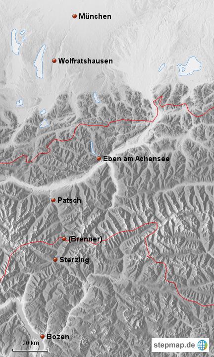 Transalp München Bozen Von Ridderth Landkarte Für Deutschland