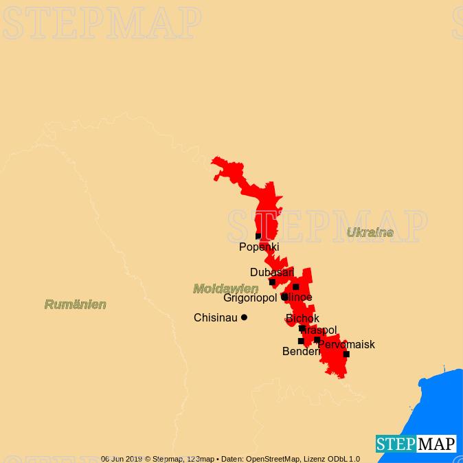 Landkarte: Transnistrien