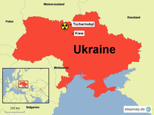 Tschernobyl Karte.Stepmap Tschernobyl Landkarte Für Ukraine