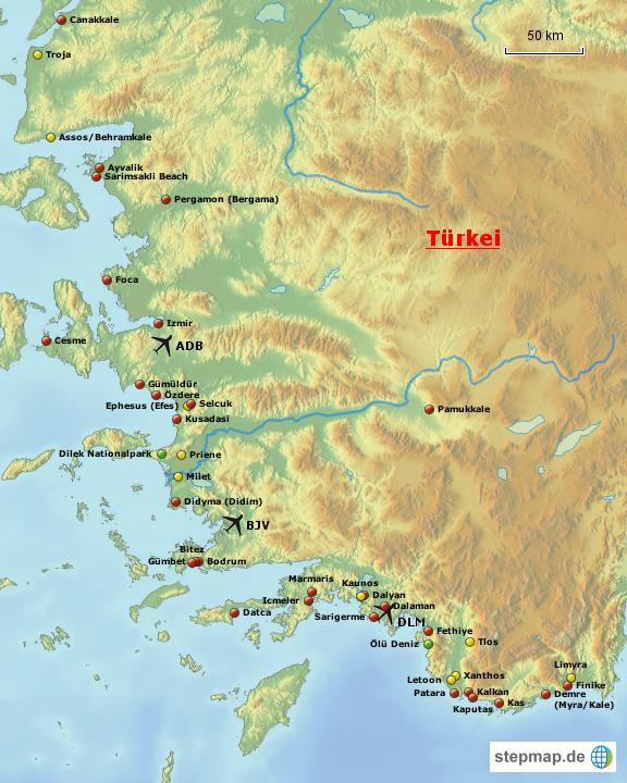 Türkische Karte
