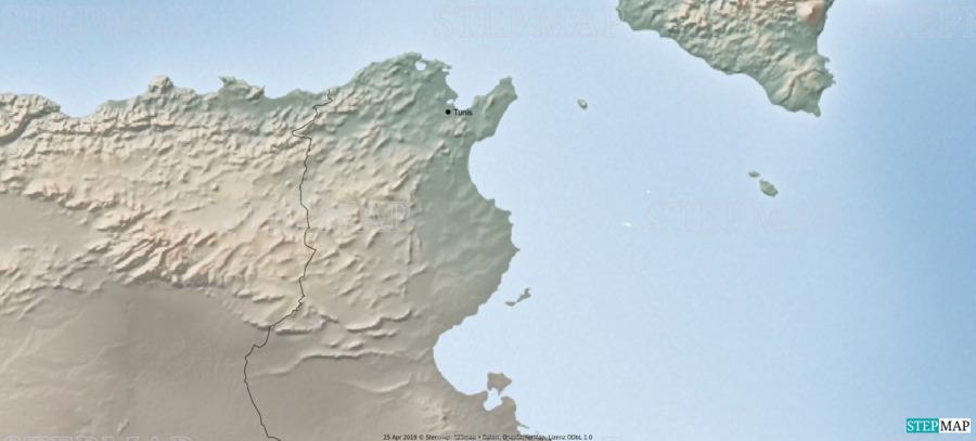 Tunesien Karte Welt.Stepmap Tunesien Landkarte Fur Welt