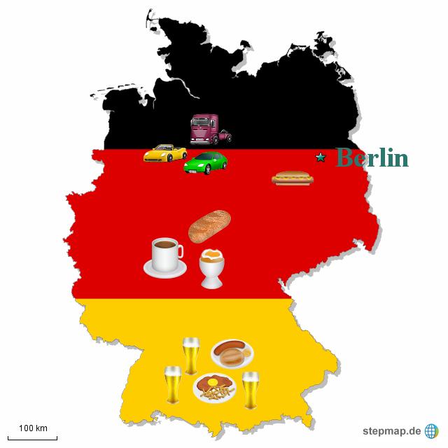 typisch deutsch von sabrinawillreisen landkarte f r deutschland. Black Bedroom Furniture Sets. Home Design Ideas