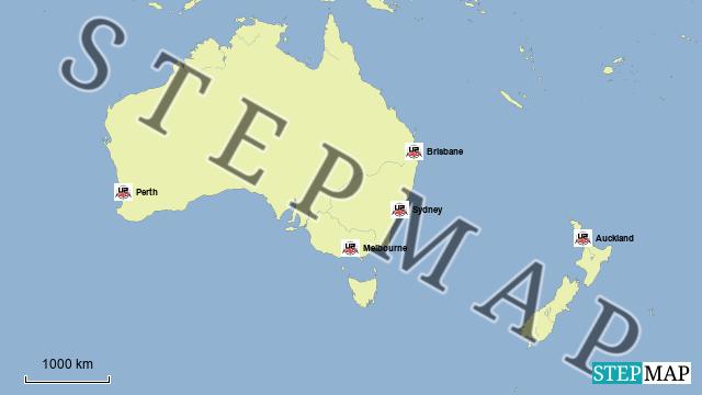 landkarte australien neuseeland deutschland karte. Black Bedroom Furniture Sets. Home Design Ideas
