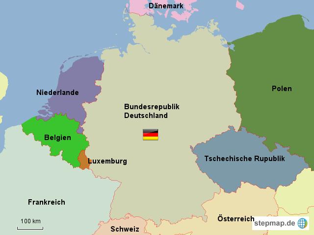 bersicht nachbarn deutschland von ratitz landkarte f r deutschland. Black Bedroom Furniture Sets. Home Design Ideas
