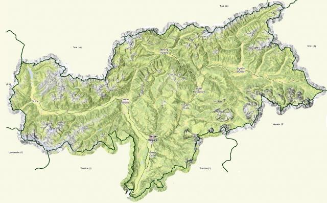 landkarte südtirol StepMap   Übersichtskarte Südtirol   Landkarte für Italien landkarte südtirol