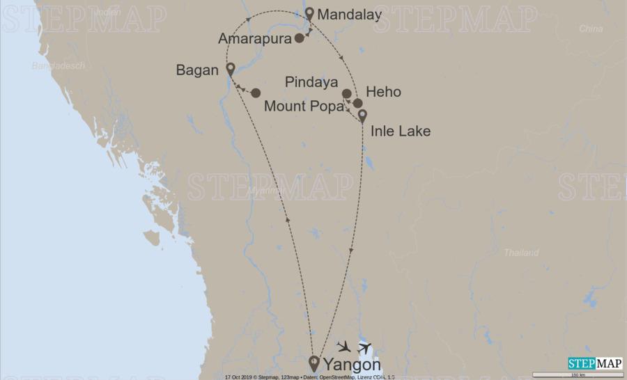 Landkarte: Ultimate Myanmar / 10022