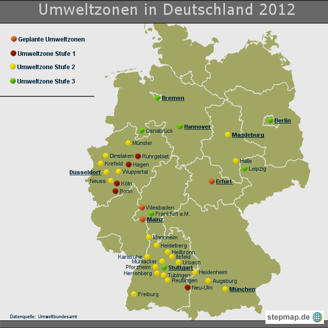 Umweltzone Leipzig Karte.Umweltzone Karte Deutschland My Blog