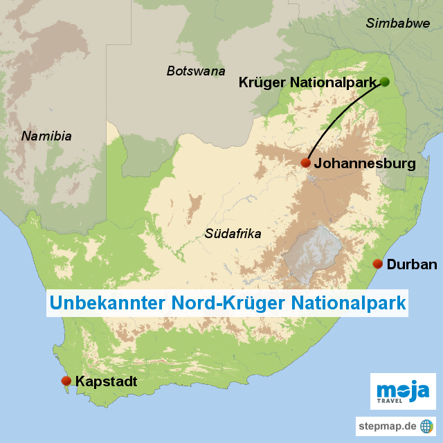 Südafrika unbekannter nord krüger nationalpark s