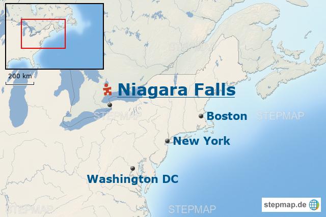 Usa Baustein Die Niagarafälle Ganz Nah Erleben Von Infoaterlebe Landkarte Für Die Usa