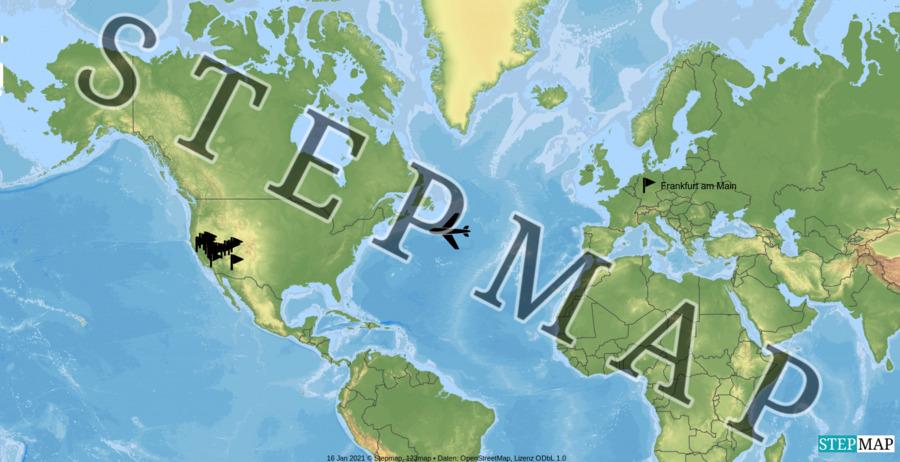 Landkarte: USA